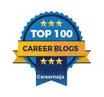 career advice blog badge