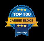 career advice blog badge